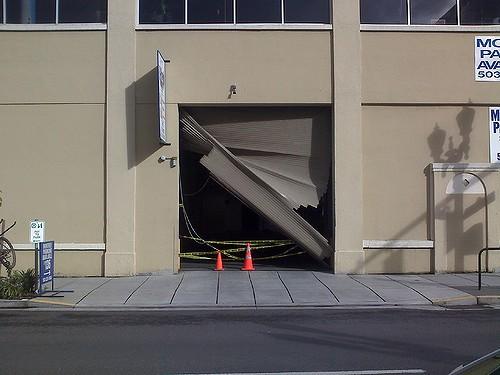 Damaged Garage Door