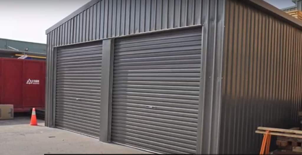 Metal Warehousing with metal doors