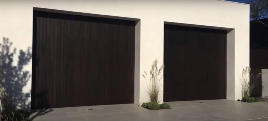 Black Painted Wood Garage Doors